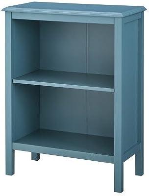 Windham 2 Shelf Bookcase Teal Blue