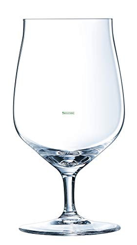 Chef&Sommelier - Collection Séquence - 6 verres à pied bière de 37cl en Cristallin - Design Classique, Harmonieux et Élégants - Résistance Hors Norme - Transparence Absolue
