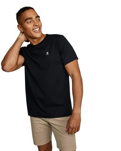 Psycho Bunny Men's Crew Neck T-Shirt Black 4-S