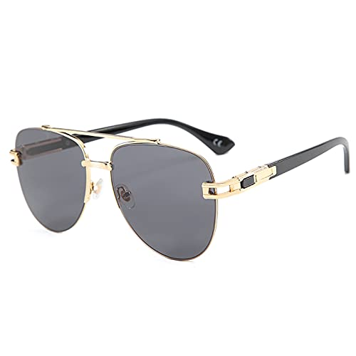 xzl Gafas de Sol polarizadas para Hombres/Mujeres Protección UV, Moda de Gran tamaño polarizada Gafas de Vendimia, 100% de protección UV, para Vacaciones al Aire Libre, C