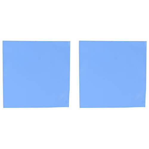 Futheda Pad Termico 2 Pezzi 100 x 100 x 1.5mm Thermal Pad in Silicone Blu per CPU GPU Dissipatore di Calore, efficiente conduttività Pad Termica, riempimento Gap