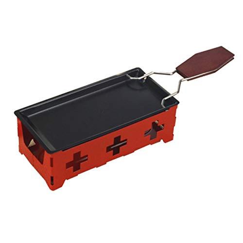 YXDS Horno de Queso Suizo portátil Utilidad eléctrica Mini Bandeja para Hornear Antiadherente Bandeja para Hornear Queso Mantequilla Herramienta de Barbacoa