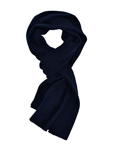 DALLE PIANE CASHMERE - Sciarpa 100% cashmere - Uomo/Donna, Colore: Blu, Taglia unica