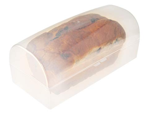 """HOME-X Transparent Bread Box, Clear Plastic Container for Standard Loaf – 12"""" L x 5.5"""" W x 4.75"""" H, BPA Free"""