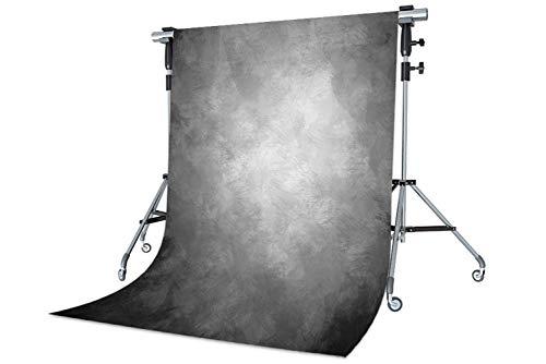 WaW Waschbar Stoff Fotografie Studio Hintergrund, Klassische Fotohintergrund for Baby, Kinder, Porträt, Haustier, Werbung Photoshooting Video (1.5x2.2m, Grau)