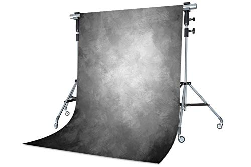WaW Sfondo Fotografico Grigio Astratto Tessuto Fondale per Professionali Ritratto Foto Retro Fondali Fotografici Bambini 1.5x2.2m