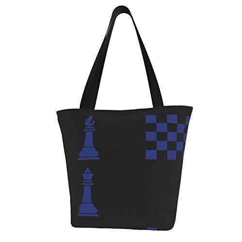 Jiu Jitsu - Bolsas reutilizables de ajedrez de color azul real, bolsa de regalo elegante, material laminado resistente de poliéster