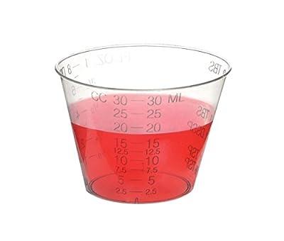Uben Disposable Graduated Measuring Plastic Medicine Cups 1 Ounce