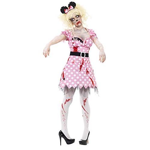 Smiffys Costume Zombie Roditore, Rosa, comprende Abito, Cinta e Cerchietto