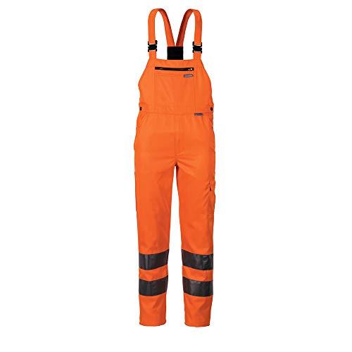 Planam Latzhose Warnschutz, Größe 52, 1 Stück, orange, 2021052