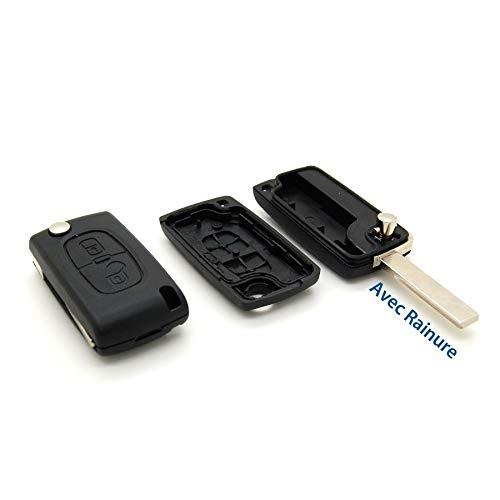 Peugeot Enveloppe de Protection Boîtier pour télécommande de 2 Boutons 207, 307, 407, 807 avec rigole