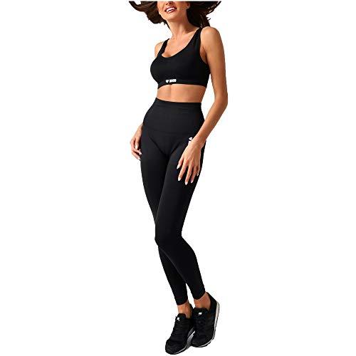 Boco Wear shape seamless Damen Leggings Schwarz S/M, Sportleggings für Sport Fitness Laufen Yoga mit hoher Taille und nahtlos für bequeme Workouts