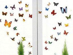 Hacoly - Adhesivo Decorativo para Pared, diseño de Mariposa, para Ventana de Cristal, cafetería, hogar, Cocina, decoración para Fiestas de Vacaciones