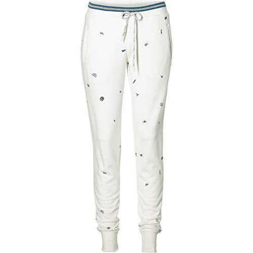 O'Neill Pantalon Sweat LW Mini Imprimé Jogger Pantalon Blanc Motif Graphique - 1960 Blanc AOP W/Vert, S