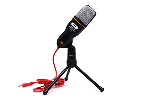Microfone Condensador para PC com Tripé e Cabo P2