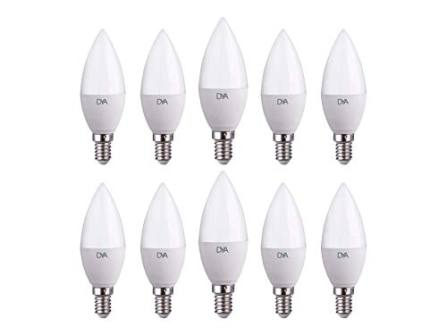 Set van 10 LED-lamp kaars C37 LED-fitting E14 koud licht 6000 K