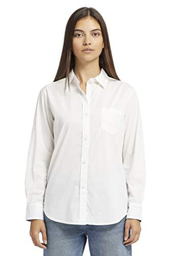 khujo Damen Bluse RODOSA Hemdbluse Damenhemd aus Baumwolle im geradem Schnitt