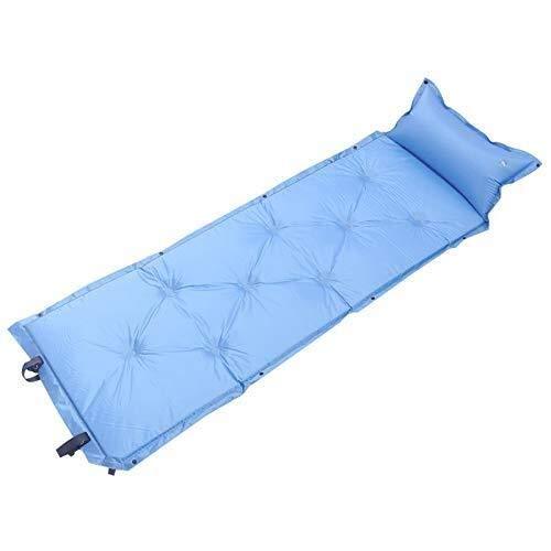 edredón Saco de Dormir de Camping Autoinflable colchoneta y Saco de Dormir Almohada Inflable, cómoda Cama de Aire Carpa de Senderismo Camping, excursiones, Color: Gris (Color : Blue)