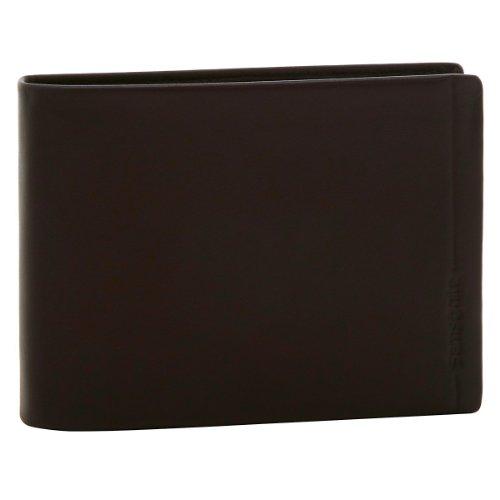 Samsonite Portafoglio Pelle Serie Rhode Island con Porta Moneta E Ribalta colore Dark Brown Testa di Moro
