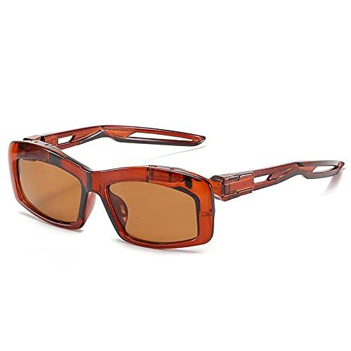 Gafas de sol de pesca rectangulares retro clásico deportes al aire libre gafas de sol 13-Wm2144-C3