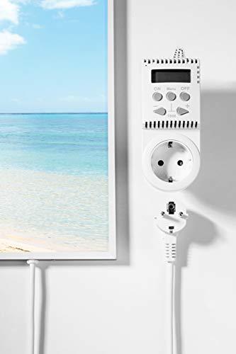 Bildheizung mit Digitalthermostat und Stecker für die Steckdose – 5 Jahre Herstellergarantie - 5