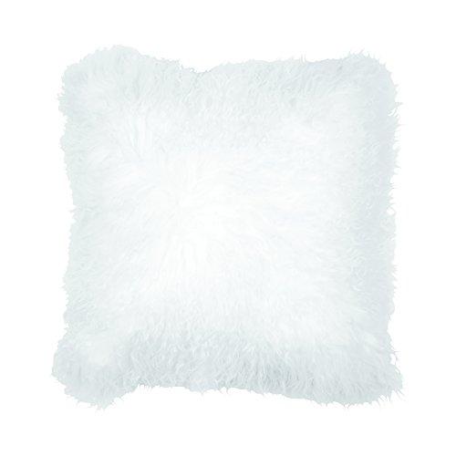 Weiß Mongolisches Lammfell Kissen von Eightmood Kissen aus Dupionseide, ein wunderschönen Sitzkissen, ideal für das Hinzufügen ein Hauch von Luxus in jeden Raum