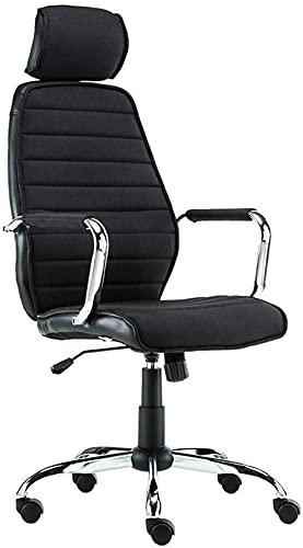 Barhocker Computerstuhlstuhl Ergonomischer Bürostuhl, High-Back-Computer-Schreibtischstühle, flexibler Swivel-Task-Stuhl mit verstellbarer Höhe und Hub-Armlehne, drehbare Kopfstütze und weicher Schwam