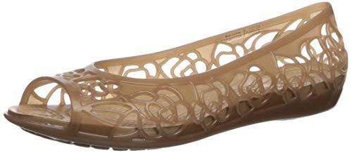 crocs Damen Flat Isabella Jelly Flach, Bronze/Gold, 34 EU