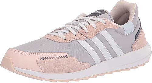 adidas Women's Retrorun Running Shoe, Grey/White/Pink Tint, 10.5