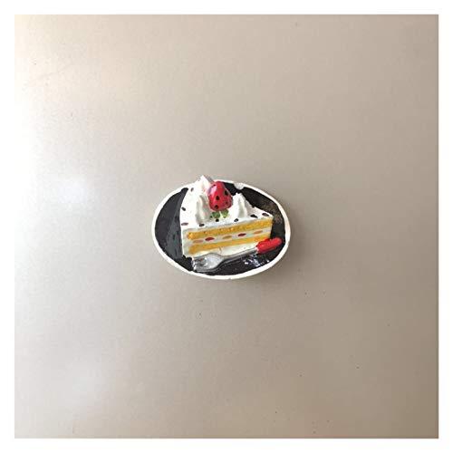 Hzdmfgs Fridge Magnet Refrigerator Decoration magnet fridge Creative Simulation Cake Dessert Sweet Tube 3D Resin Refrigerator Paste Message Post (Color : Cake G)