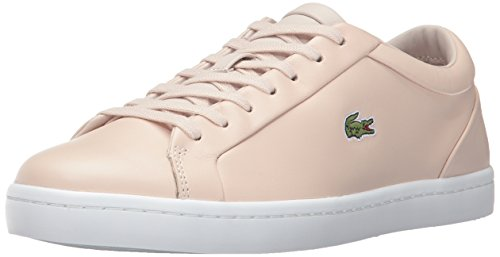 Lacoste Women's Straightset LACE 317 3 Fashion Sneaker, Pink, 9.5 M US