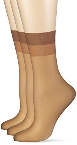 KUNERT Damen 030044 Socken, 15 DEN, Beige (Make-Up 0019), 35/38 (3er Pack)