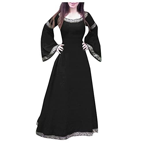 Hiroo Mittelalter Kleid,Damen Retro Gothic Steampunk Viktorianischen Prinzessin Cosplay Uniform Abendkleider Partykleid Für Festival Fasching Hochzeit Karneval