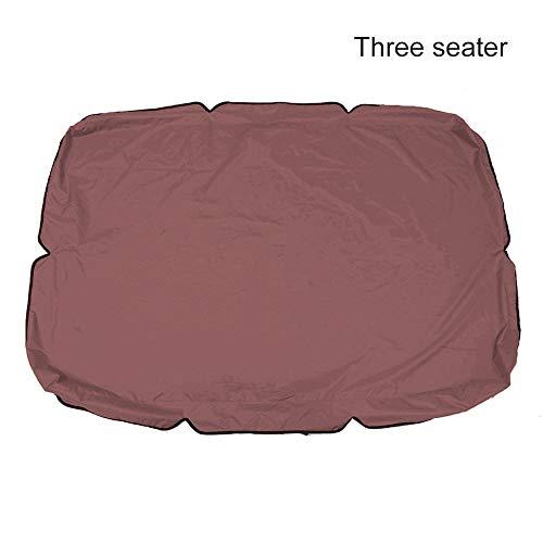 Toldo De Columpio Reemplazo De La Cubierta Superior De Polvo Protector For 2 Y 3 Plazas Tamaños, Sombra Impermeable UV Grande For Sun Paño Repuesto Silla Jardín ( Color : Brown , Size : 190*132*15cm )