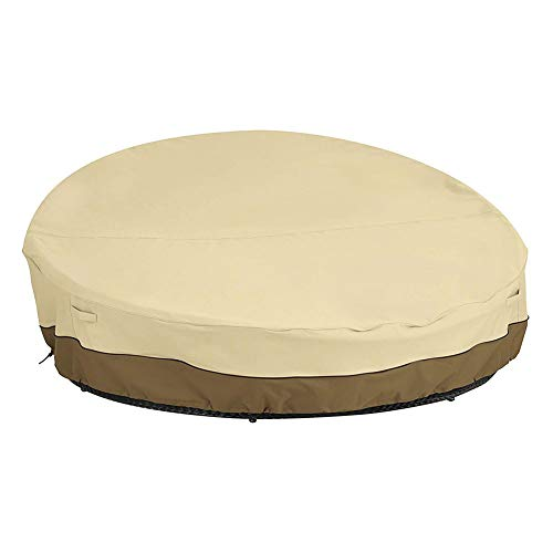 SAHWIN Fundas De Sofá De Ratán De Jardín, 420D Funda Impermeable para Sofá Cama para Patio Cubierta Redonda para Muebles De Exterior A Prueba De Humedad A Prueba De Polvo