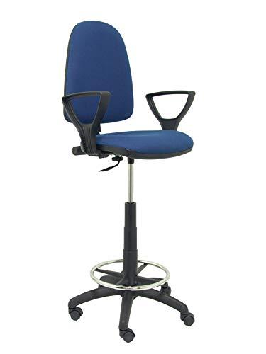 Piqueras y Crespo T04CP - Sgabello ergonomico, altezza regolabile e anello poggiapiedi Blu navy