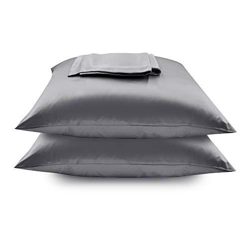 Zenssia Satin-Kissenbezug mit verstecktem Reißverschluss, für Haar und Haut, 2 Stück