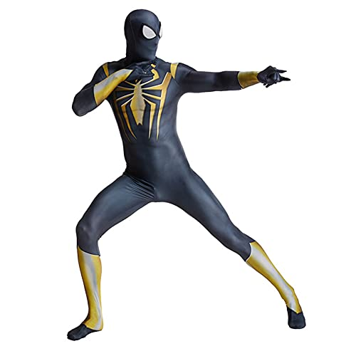 Hflyy Trajes Spiderman, Traje de niño y niña, Mono de Cosplay para Adultos, Traje de superhéroe Zentai, Juegos de Fiesta temáticos, Disfraz de Mascarada, Mono de Carnaval,Blue-Adult/XL/170~185cm
