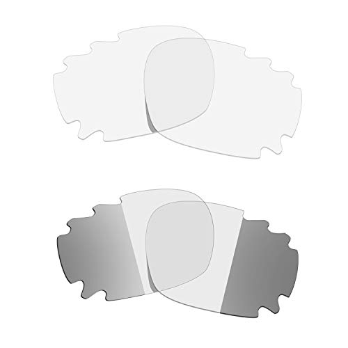 HKUCO Titanium/Transition/Photochromic Polarized Replacement Lenses For Oakley Racing Jacket Vented Sunglasses
