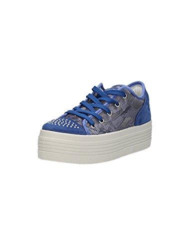 Guess Damen Sneaker Schnürschuhe Blau (41)