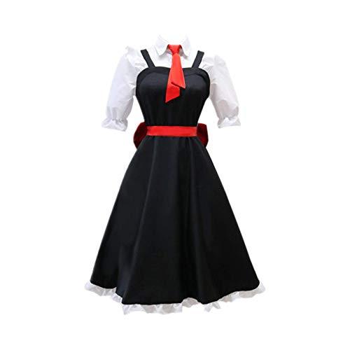 ULLAA Disfraz de Cosplay Masquerade Miss Kobayashi Dragon Maid Toru Anime Maid Delantal Vestido TrajesL Negro