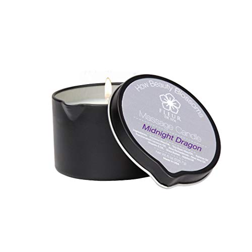 Massage Candle by Fleur De Spa Midnight Dragon fragrance