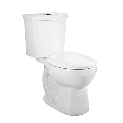 American Standard 2889218.020 H2Option Siphonic Dual Flush Normal Height Round Front Toilet, White, 2-Piece