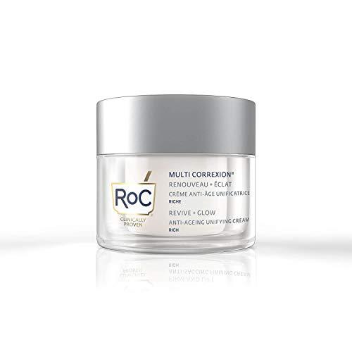 RoC - Multi Correxion Vitamin C Crema Unificante Ricca - Crema Viso Antirughe e Antieta - Pelle dall'aspetto Paffuto - Ipoallergenico - 50 ml