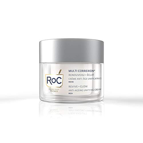 RoC - Multi Correxion Revive and Glow Unifying Cream Rich - Vitamin C - Anti-Wrinkle and Ageing - For Plumper-looking Skin - 50 ml