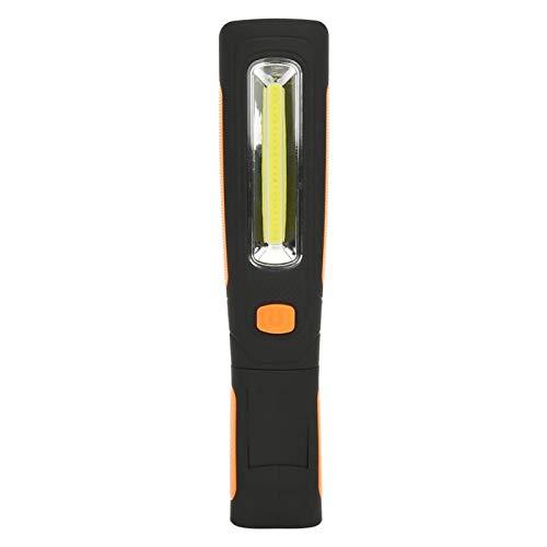 Aimant Crochet Lampe de Poche COB Lampe de Poche de Charge Électronique Aimant Lampe de Poche Électronique Lampe de Poche de Charge LED Portable Durable Léger pour Camping, Randonnée(Orange)