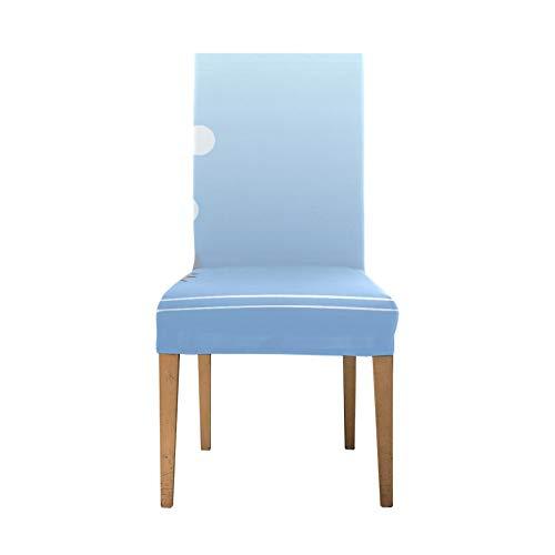 Dinnig Stuhlbezug Big Swimming Hippo Schöne Tierstuhlbezug Soft Stretch Stuhlhussen für Esszimmer Waschbare abnehmbare Esszimmerstühle Bezüge für Zuhause