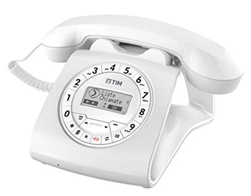 Tim Sirio Classic Telefono Ergonomico a Filo, Bianco