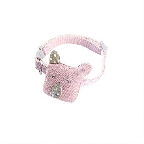 Collares para Mascotas Collar de Gato con Forma de pez de Dibujos Animados Collar de Perro Collar de Perro pequeño para Gato Accesorio para Mascotas Joyería, Oso Rosa