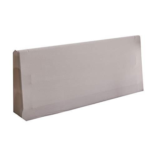 Copertura Protettiva Elastica per Testata Testiera Letto 5 Colori per La Selezione - Grigio Chiaro, 180 cm